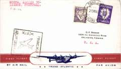 (Azores) F/F FAM18, Southern Atlantic route, Horta  to Lisbon, cachet, b/s, Pan Am