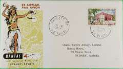 (French Polynesia) F/F  Papete to Sydney, no b/s, official cover, Qantas