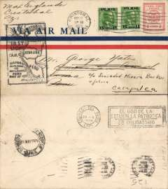 (Canal Zone) F/F FAM 9, Cristobal to Lima, b/s 20/5, cachet, Pan American Grace Airlines