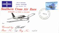 (Australia) Southern Cross Air Race, Brankstown-Parkes-Ballarat, canc Eureka, carried by Piper, signed by pilot.