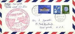 (Japan) Northwest Airlines, F/F Osaka-New York, special cancellation, cachet, b/s.