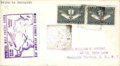 (Brazil) Pan Am F/F FAM 22  Belem-Bathurst, cachet, b/s, air cover.