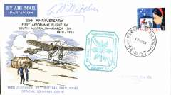(Australia) 55th anniversary F/F in South Australia, souvenir cover, cachet, singed by Bill Witter, mechanic.