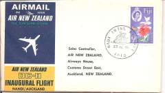(Fiji) Air New Zealand, F/F, Nadi to Auckland, b/s, souvenir cover.