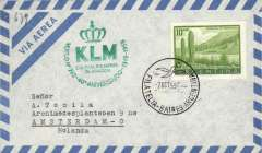 (Argentina) KLM 40th anniversary Buenos Aires-Amsterdam, b/s, cachet.