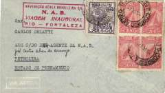 (Brazil) Navigacao Aerea Brasileira, F/F Rio-Fortaleza, red flight cachet, b/s, ironed vertical crease, otherwise fine.