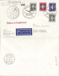 (Germany) First acceptance of East Germany mail for KLM F/F Amsterdam-Tokyo, cachet, b/s.