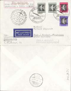 (Germany) First acceptance of East Germany mail for KLM F/F Amsterdam-New Guinea, cachet, b/s Biak.