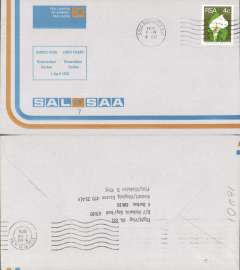(South Africa) SAA/Emeric Air,  F/F Richards Bay--Durban, official souvenir cover, b/s, recent but uncommon.