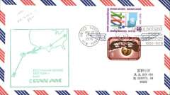 (Fiji) Pan Am, F/F into Nadi from New York, large green cachet, bs, air cover.