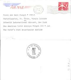 (Virgin Is) Pan Am FAM 5, F/F Christiansted to New York, bs 22/12.