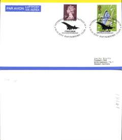 (Concorde) Concorde 25th anniversary, RAF Fairford Tattoo, air cover franked 25p, canc special dated souvenir postmark.