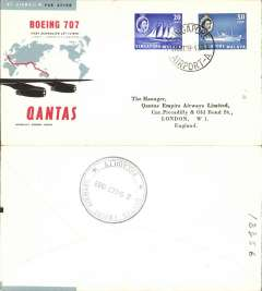 (Singapore) F/F Singapore to Sydney, b/s, official cover, Qantas