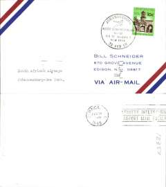(South Africa) SAA F/F B707 Jo'burg to New York, b/s 24/2, special postmark.
