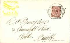 (GB Internal) Apex International Air Post Exhibition, London, First Day souvenir cover with yellow Apex cachet, franked 1/2d canc special Exhibition postmark, brown perforated Apex vignette verso.