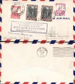 (Belgian Congo) Pan Am clipper service Africa-USA, F/F FAM 22, Leopoldville to San Juan, airmail cover, cachet, b/s 17/12. This strategically important service, linking Africa and the USA, opened just at the critical time when Japan attacked Pearl Harbour and the USA went to war.