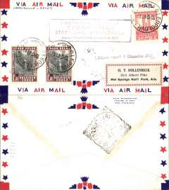 (Belgian Congo) F/F FAM 22  Leopoldville to Belem, cachet, b/s 15/12, air cover, Pan Am