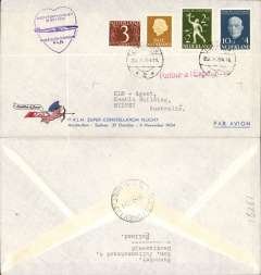 (Netherlands) KLM  Constellation special flight for immigrants, Amsterdam-Sydney, b/s 5/11, souvenir cover franked 75c.