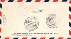 (Mexico) Cia Mexicana de Aviacion, F/F Vera Cruz to san Geronimo, bs Servicio Aerea, airmail cover.