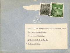 (Chile) BSAA, Valparaiso to Amsterdam, no arrival ds, airmail commercial corner cover addressed to the Royal Netherlands Steamship Co, franked 8P10.