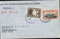 "(Recovered Interrupted Mail) Crash of Sabena F/F Libenge to Leopoldville, bs 6/9, plain cover franked 60c, canc Libenge cds, typed ""Ier Vol Libenge-Leopoldville par Sabena"".  After leaving Libenge it encontered a tornado and was forced down at Bangui and, after leaving Bangui, it was forced down again near Lakr Tumba and the plane was destroyed.  Francis Field authentication hs verso, and manuscript confirmation in Field's hand that only 10 covers were carried on this flight. A copy of Nierink's description accompanies this item, ref Nierink 360904."