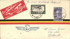 (Belgian Congo) F/F Elisabethville to Ponthierville, bs 3/11, via Stanleyville 30/10, carried on the accelerated Sabena service from Elisabethville-Brussels, red/yellow/black stripe airmail cover franked  60c, blue flight cachet.