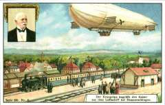 (Ephemera) Zeppelin, repro set of six  coloured ppc's from 1909, unused, produced by Zeppelin Study Group, UK