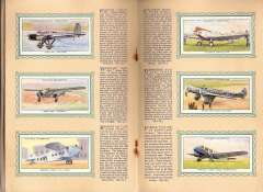 (Ephemera) Album of 50 cigarette cards of Civil Aeroplanes, published 1930's, by John Player, inc GB (23), France (5), USA (11), Germany (5), etc, with detailed text by each. Album covers a trifle grubby, otherwise fine.