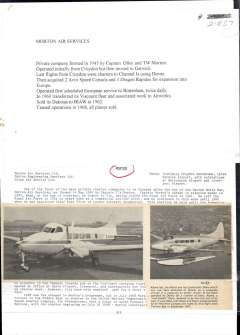 (Ephemera) Morton Air Services formed in 1945 by Captain Olley and TWMorton, 4000 words article, A4