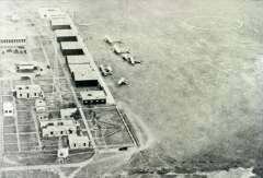 (Ephemera) PANAGRA, Las Palmas airport Lima, aerial view of planes on the ground including Ford Trimotors and Fairchild's, c1930, modern B&W photo scan, 145x100mm.