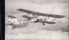 (Ephemera) Imperial Airways Liner of the 'Heracles' class in flight, registration G-AAXF, an original Tuck 'real photograph' B&W PPC.