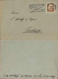 (Ephemera) Condor Syndicato, German internal (likely unflown) cover, with cachet celebrating the 250th crossing of the South Atlantic, posted Breslau, 9/6/1937, tying German 3pf stamp, see scan.