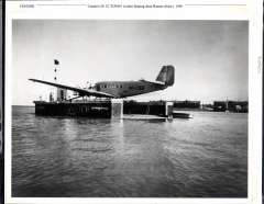 """(Ephemera) Condor's JU 52 """"Tupan"""" in their floating dock at Buenos Aires, c1940, super B&W photograph of the period, 180x255mm."""