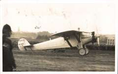 (Ephemera) The Spirit of St. Louis, original 'Flight Copyright' B&W photograph, 14x9cm, showing registration: N-X-211, the custom-built, single engine, single-seat monoplane that was flown solo by Charles Lindbergh on May 20–21, 1927, on the first non-stop flight from New York to Paris for which Lindbergh won the $25,000 Orteig Prize.