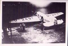 (Ephemera) Junkers 46, D-4291 'Sirus' mailplane converted to seaplane D-UHYL and used on board NDL steam ship 'Bremen'. B&W reproduction photograph, 12x9cm.