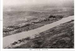 (Ephemera) Sudan, Bor landing ground, a small government post 980 miles south of Khartoum. B&W photo, 15x20cm, of a newspaper picture taken during the 1926 RAF Cairo-Cape Town flight.
