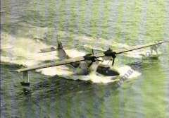 (Ephemera) Catalina Flying Boat, PBY-5A, with 210 RAF Squadron markings, at Portland Harbour,.Catalina Society PPC.