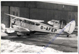 (Ephemera) Olley Air Services Ltd DH89A Dragon Rapide G-AFEP on the tarmac. A second similar plane can also be seen in the background. Super original B&W photo,  16x11cm,  c1934.