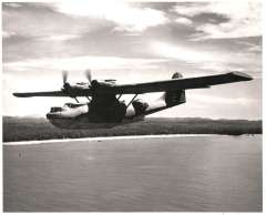 (Ephemera) BOAC PBY Catalina flying boat, 1941 UK to Lagos, 1943 Perth(Australia) to Ceylon after regular routes had been cut by enemy action. Original BOAC photograph. 25x21cm.