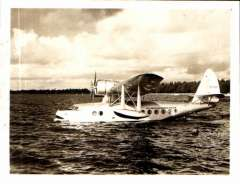 (Ephemera) NC 15067, Sikorsky S-43, NC 15067, nice detailed sepia photograph made from the original negative showing side view, 11x9cm. Delivered to Pan Am in March 1936. Pan Am who assigned this Baby Clipper to Panair do Brasil.