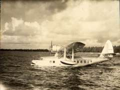 (Ephemera) NC 15067, Sikorsky S-43, NC 15067, nice detailed original sepia photograph showing side view, 11x9cm. Delivered to Pan Am in March 1936. Pan Am who assigned this Baby Clipper to Panair do Brasil.
