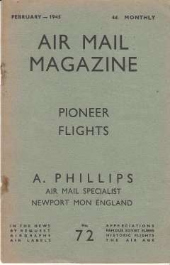 (Ephemera) Philips Air Mail Magazine 'Green Lists'. April 1939 to August 1940, no's 2,5,6,7,11,12,13,14,15,16,17,18. Also February 1945, no 45.