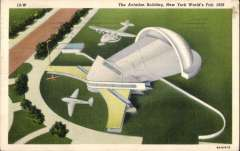 (Ephemera) New York's World Fair 1939, The Aviation Building, officially approved PPC, used.