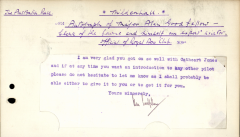 (Ephemera) Civil Air Guard Scheme 1938, Major Alan Goodfellow, a signed letter. He was Clerk of the Course at the time of the 1934 London to Melbourne Air Race and later foundation member of the Civil Air Guard Scheme.