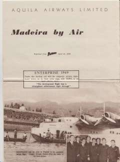 (Ephemera) Madeira By Air, original 'Flight' reprint with pictures of the 'Hampshire Flying Boat, its crew, and the plane in Funchal Bay, A4, 4pp.