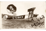 (Ephemera) Berkshire Aviation Tours Biplane East Hanney, Britain's first aerial touring joyriding, B&W photocard showing 1925 Avro 504K G-EBKX on the ground.