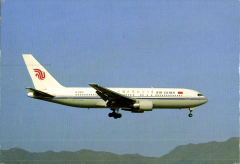 (Ephemera) Air China Boeing 767 in flight in company livery, colour PPC unused