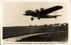 (Ephemera) The Fokker F.XXXVI. 1930s Dutch four-engined 32-passenger airliner designed and built by Fokker. It was delivered to KLM and operated on European routes from March 1935. B&W PPC.