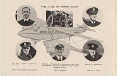 (Ephemera) West Coast Air Services, A5 size B&W picture, not photograph, head and shoulders pictures, not photogrph, of six of the company's pilots. attractive, ideal size for collateral item.