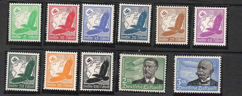(Ephemera) Highland Airways 2x semi official air stamps issued for use on 1/12/1934.